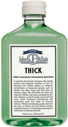 John Allan's Thick, Deep Cleansing Volumizing Shampoo -  - Barneys.com