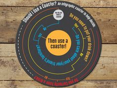 A most informative coaster Drink Coasters, Infographic, Lettering, Music, Creative, Infographics, Coasters, Muziek, Musik