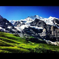 Interlaken, Switzerland. Photo by kanokmaneechotikul • Instagram