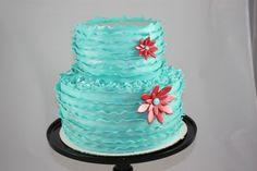 So pretty! Turquoise ruffles