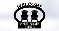 Welcome Beach Lawn Chair Sign Custom by SCHROCKMETALFX on Etsy, $50.00