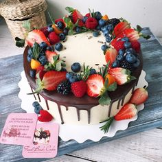 Fruit Birthday Cake, Bithday Cake, Cake Decorated With Fruit, Birthday Cake For Husband, Gourmet Cakes, Birthday Cake Decorating, Healthy Cake, Drip Cakes, Easy Cake Recipes