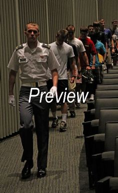 Cadet Candidates leave Ike Hall to begin in-processing.
