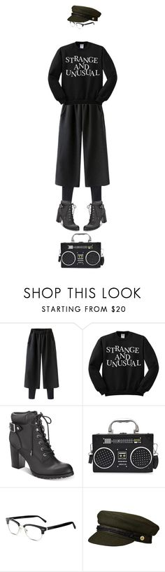 """""""black attack"""" by collagette ❤ liked on Polyvore featuring Style & Co., GlassesUSA and allblack"""