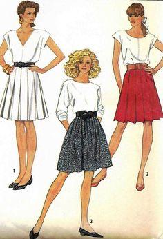 Skirt Pattern Simplicity 8439 UNCUT Factory by RetroMarketplace