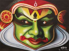 kathakali acrylic painting - Google Search