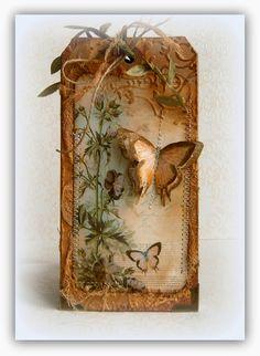 zuzčino SCRAP DECO: Visačkový bloček - Botanicus