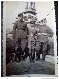 ARMY MILITARY SOLDIERS Monument 1943 WWII ORIGINAL ALFA ZUPEX PHOTOGRAPH Authentic Image KINGDOM BULGARIA - War, Military