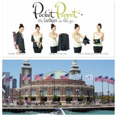 Start set up today at Navy Pier for The Summer Luggage, Gift  Travel Goods Show - June 19  20! We're in Booth #100 #navypier #travelgoodsshow #pocketpoppet #cardiganonthego #nlda #luggage #chicago www.thepocketpoppet.com