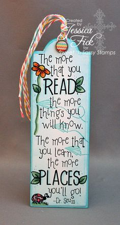 Seuss Bookmark by jessjean - Cards and Paper Crafts at Splitcoaststampers Creative Bookmarks, Cute Bookmarks, Paper Bookmarks, Bookmark Craft, Bookmarks Quotes, Reading Bookmarks, Printable Bookmarks, Bookmark Ideas, Beaded Bookmarks