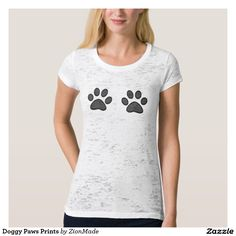 Doggy Paws Prints Tshirts   #zionmade