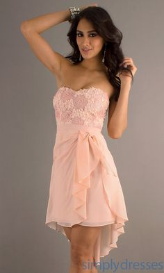 High Low Strapless Dress, High Low Party Dresses - Simply Dresses