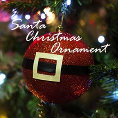Santa Christmas Ornament - DIY tutorial for your own ornaments. These are great for gifts, crafts, or any last minute decorating need!