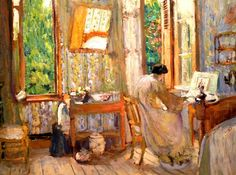 Madame Lucy Hessel Working at a Dressmaker's Table, 1908 Edouard Vuillard