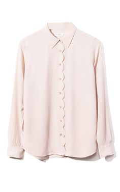 Equipment Brett Clean Scallop Blouse