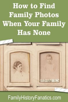 Are you frustrated because your family didn't share family photos with you? Try … Are you frustrated because your family didn't share family photos with you? Try these three tips to find alternative sources of family photo. Free Genealogy Sites, Genealogy Forms, Family Genealogy, Genealogy Search, Genealogy Organization, Organizing, Family Tree Research, My Family History, Family Roots