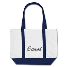 Houndstooth Print Name Carol Bag