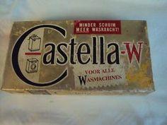 Oude verpakking wasmiddel van castella.