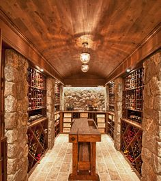 Traditional Wine Cellar Design, Pictures, Remodel, Decor and Ideas - page 11 Caves, Wine Cellar Basement, Home Wine Cellars, Wine Cellar Design, Wine House, Tasting Room, Tasting Table, In Vino Veritas, Wine Storage