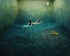 Just wow. :: JeeYoung Lee creates highly elaborate scenes that require an incredible amount of patience and absolutely no photo manipulation. For weeks and sometimes months, the young Korean artist works in the confines of her small 360 x 410 x 240 cm studio bringing to life worlds that defy all logic. In the middle of the sets you can always find the artist herself, as these are self-portraits but of the unconventional kind.