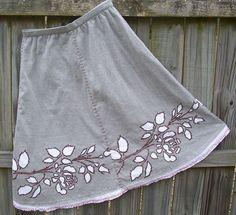 reverse applique skirt