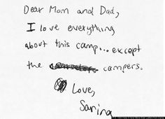 'P.S. I Still Hate It Here!': Hilarious Kid Letters From Camp