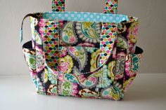 Ultimate Diaper Bag with Zipper Closure. $105.00, via Etsy.