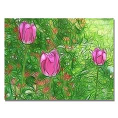 'Tulips' by Kathie McCurdy Painting Print on Canvas