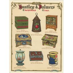 Huntley & Palmers Christmas Tins, 1911