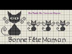 gatto e chaton2 Knitting Charts, Couture, Filet Crochet, Blackwork, Mittens, Cross Stitch, Blog, Crochet Ideas, Hand Crafts