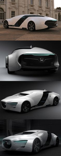 ♂ The Honda Zeppelin was a design created by Myung Jin Jung, a student of Hongik University's car design course. The Zeppelin was created for his final year thesis - for 2008 the brief was to design a luxurious sedan for the future.