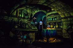 Snow White's Scary Adventures, Disneyland. by -Pacis-, via Flicker ... The wicked queen is terrifying.