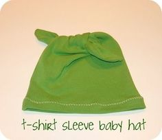 upcycled t-shirt baby hat