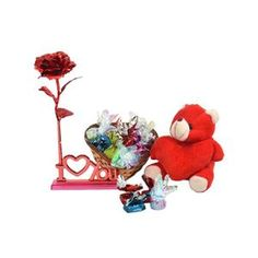 #‎Roses‬ to express your ‪#‎love‬ is a common idea! Quite naturally, it will fade away within a day. So make your dearest one gift remarkable with the rose that never fades away along with a cutest combo.  Shop ‪#‎OnlinegiftstoIndia‬ @http://giftsngreets.com