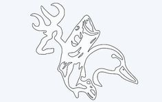 Deer, fish and duck silhouette window decal FREE SHIPPING! Multiple sizes and colors. Hunting fishing outdoors bow gun redneck country