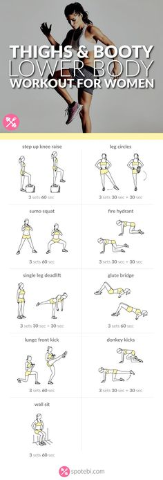 Sculpt your glutes, hips, hamstrings, quads and calves with this lower body workout. A routine designed to give you slim thighs, a rounder booty and legs for days! # workout plans for weight loss Fitness Workouts, At Home Workouts, Fitness Motivation, Fitness Goals, Leg Workout At Home, Workout Plans, Workouts For Legs, Bum And Thigh Workout, Big Hips Workout