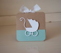 Baby Carriage Pram Thank You Cards Baby Shower by CardinalBoutique, $74.00