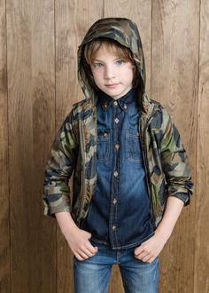 Convertible camo-print jacket #MANGOKids #FW14 #Kids