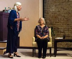 Sisters Silda (Terry) and Polly (Marsha) argue over a past tragedy in SCT's production of Other Desert Cities, Cities, The Past, Sisters, Dresses, Fashion, Gowns, Moda, La Mode, City