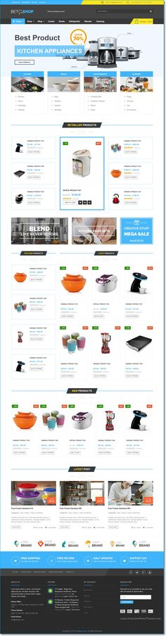 VG BetaShop is an perfect #WordPress #WooCommerce Theme for multipurpose Kitchen #Appliances eCommerce website with 6 homepage layouts & 4 Preset color download now➯ https://themeforest.net/item/vg-betashop-kitchen-appliances-woocommerce-theme/16551841?ref=Datasata