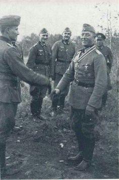 Oberst Helmuth Schlömer, commander 5. Schützen Regiment, during the Knight's Cross awarding ceremony, 02 October 1941.