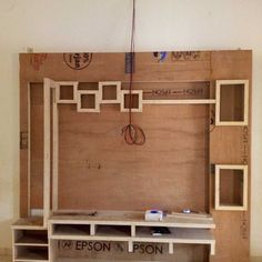 Thing to start on tomorrow. Lcd Unit Design, Lcd Panel Design, Wall Unit Designs, Tv Unit Decor, Tv Wall Decor, Tv Cabinet Design, Tv Wall Design, Tv Wall Panel, Tv Unit Furniture