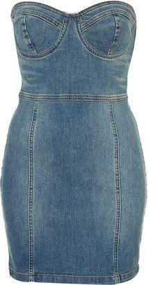 ShopStyle: Petite Denim Dress