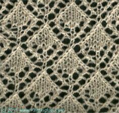 Openwork Diamonds 3 - Knittingfool Stitch Detail