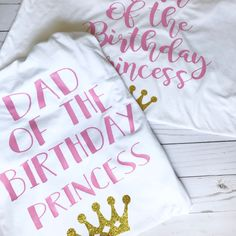 PARENTS birthday shirt set done to fit any theme!