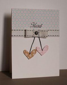 carte cœurs et ruban