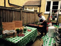 BBQ catering, BBQ party, BBQ chef, BBQ food, BBQ set up