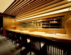 牛のひげ Entrance Design, Cafe Design, Cafe Restaurant, Sushi, Beach House, Indoor, Table, Furniture, Interiors