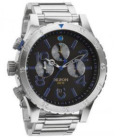 Nixon 48-20 Chrono Midnight GT A486-1529 - Dameklokker - Denne klokken er produsert av amerikanske Nixon, kjent for unik og robust design har de tatt markedet med storm de siste årene. Her får du designerklokker i topp kvalitet som virkelig skiller seg ut!