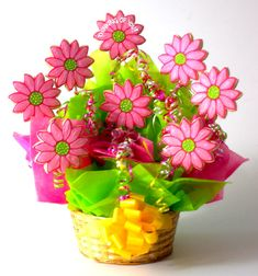 flower cookiesd | Cookies In Bloom Are Decorated Cookies in Baskets, Pail and Other Cool ...